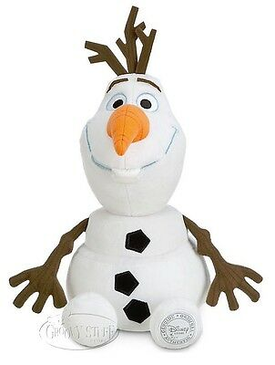 Disney Store Authentic FROZEN Olaf Snowman Large Stuffed Plush Doll 16 inch NEW