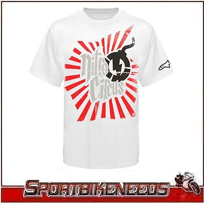 Alpinestars Nitro Circus Casuals Rising Fun TEE M Medium White T-Shirt NEW
