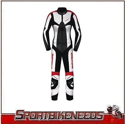 Spidi Ladies Poison 2 Piece Suit Size Euro 48 US 46 Motorcycle Track Leather