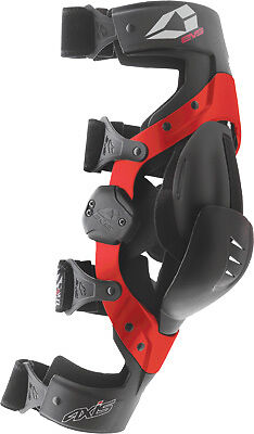 EVS Axis Sport Knee Braces Medium Pair Set Black Red New