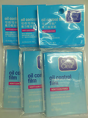 Clean & Clear Oil Control Film Blotting Paper Face (60 Sheets) X 3