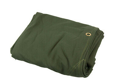 Heavy Duty Canvas Tarp Tarpaulin 8' x 10' 16oz Waterproof Green