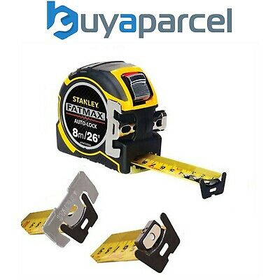 Stanley 0-33-504 XTHT0-33504 Tape Measure FatMax Autolock 8m Metric and Imperial