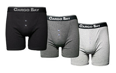 Cargo Bay 3 Pack of Cotton Jersey Button Front Boxers