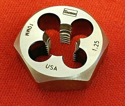 "Irwin 6639 M10 X 1.25 Metric 1"" Hex Rethread Die 10MM Carbon Steel USA Made RH"