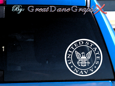 US Navy Emblem Vinyl Car Decal Sticker / Choose Color - HIGH QUALITY