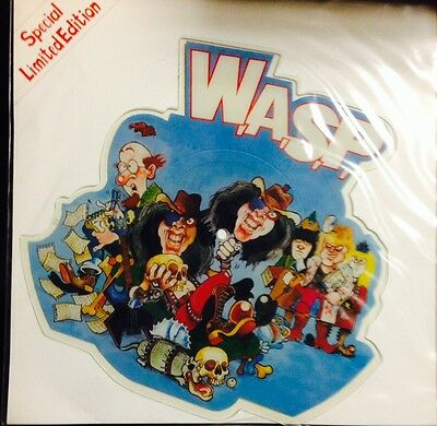 """Wasp - Real Me - 7"""" Lp Vinyl  Limited Shaped Picture Disc  Nuovo Mai Usato Mint"""
