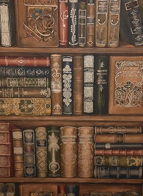 Norwall Library Bookcase Wallpaper LL29570