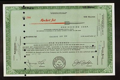 AIRCRAFT : ROCKET JET ENGINEERING GLENDALE  CALIFORNIA issued to Thomas Jay 1961