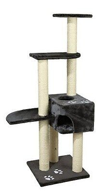 Trixie - 43867 - Arbre à chat ``Alicante`` - Anthracite - 142 cm Import NEUF