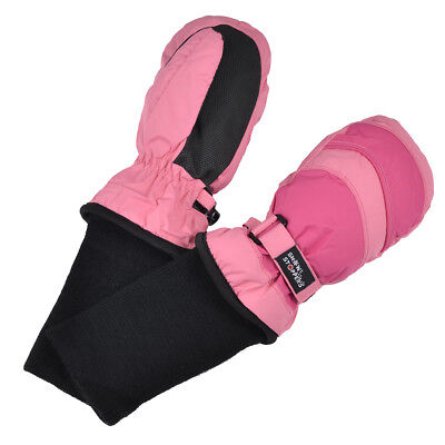 SnowStoppers STAY-ON Nylon Mittens for Ages 1-11 ~ Two-Tone Colors