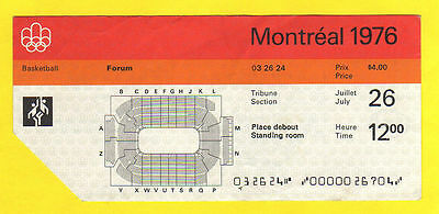 Orig.Ticket   Olympic Games MONTREAL 1976 - BASKETBALL FINAL  !!  EXTREM RARE