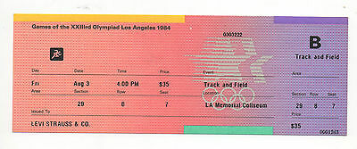 Orig.ticket   Olympic Games LOS ANGELES 1984 - ATHLETICS / 03.08.- with FINALs !