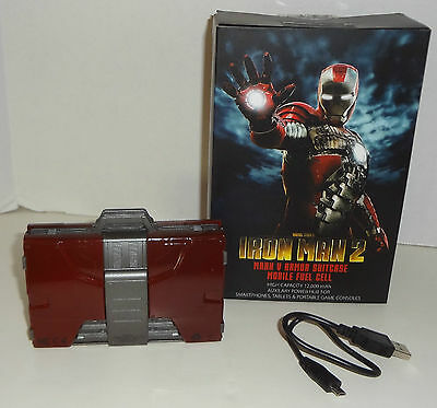 "IRON MAN 2 ""MARK V ARMOR SUITCASE MOBILE FUEL CELL"" battery charger NEW"