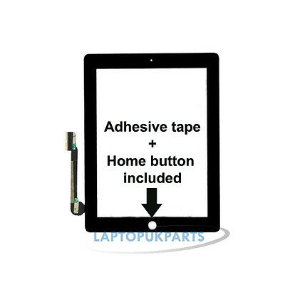 iPad 4 Replacement Touch Screen Digitizer with Home Button Assembly (Black)
