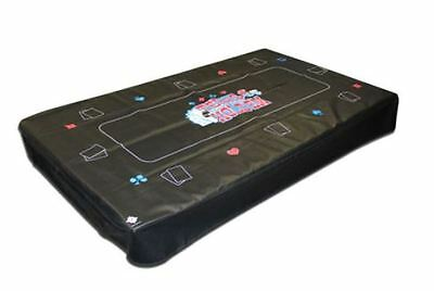 "9A Black Hood Pool Table Cover - Texas Hold'em - From Pool to Poker - 61""x111"""