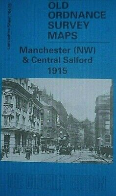 Old Ordnance Survey Maps Manchester (Nw) & Central Salford Lancashire 1915