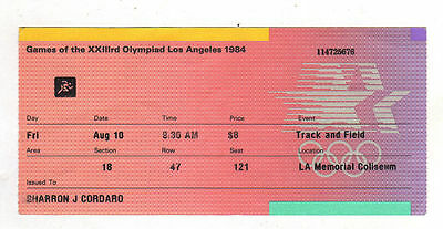 Orig.ticket   Olympic Games LOS ANGELES 1984 - ATHLETICS // 10.08. - with Finals