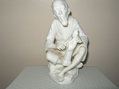 Lenwile China Ardalt made in Japan White Porcelain Verithin Old Man