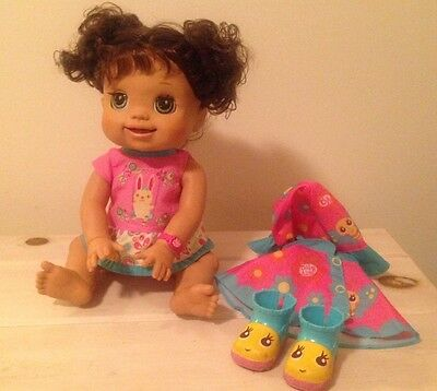 Baby Alive Talking Baby Doll Interactive Doll EUC