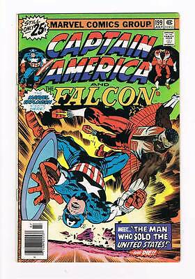 Captain America # 199 The Man Who Sold the USA ! grade - 3.5 movie hot book !!