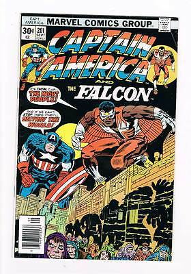 Captain America # 201 The Night People ! grade - 4.0 movie scarce hot book !!