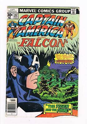 Captain America # 207 The Tiger and the Swine ! grade - 5.0 movie hot book !