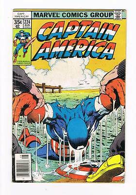 Captain America # 224 Saturday Night Furor ! grade - 4.0 movie hot book !!