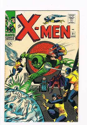 X-Men # 21  From Whence Comes...Dominus ?  grade 7.5  scarce hot book !!