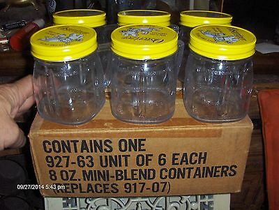 Vintage Osterizer 6 Mini Blend 8 Oz Containers In Original Box