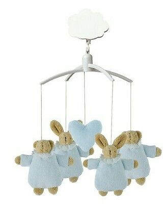 Trousselier - VM1148 02 - Mobile Musical Lapin Nid d'Ange et Ours - Ble NEUF
