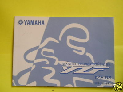 Yamaha Yzf R6 Owners Manual French Text 2001