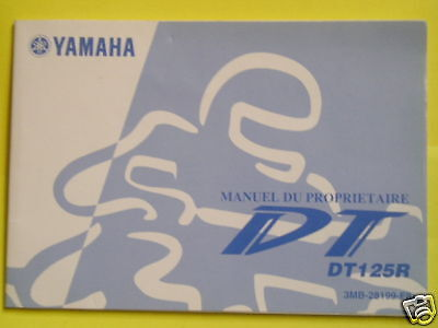 Yamaha Dt125 R Owners Manual French Text 2001
