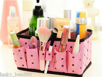 Trendy Multi-Function Non-woven Fabric Folding Make Up Cosmetic Storage Bag Box