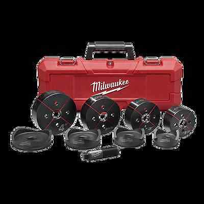 "New Milwaukee Tool 49-16-2695 Exact 2 1/2"" - 4"" 9Pc Electrical Knockout Set Case"