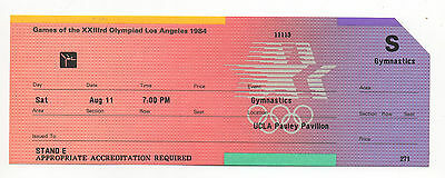 Orig.ticket   Olympic Games Los Angeles 1984 - GYMNASTIC FINAL B  !!  VERY RARE