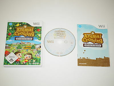 Nintendo Wii Spiel Animal Crossing Lets go to the City #54160