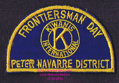 LMH PATCH Badge KIWANIS FRONTIERSMAN DAY  Boy Scouts BSA  PETER NAVARRE DISTRICT