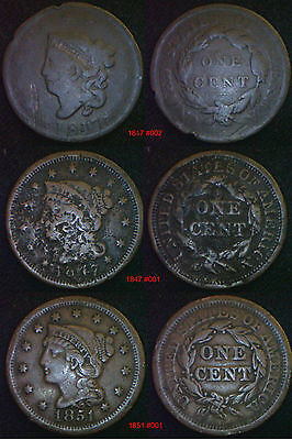 USA Large 1 Cent 1c 1801 to 1857 - Choose Date - supplied in coin wallet