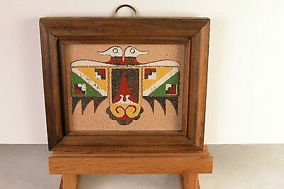 Albuquerque New Mexico Sand Painting Titled The Two Headed Thunderbird