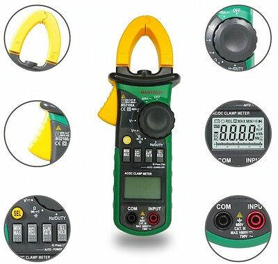 MASTECH MS2108A Digital Clamp Meter Multimeter AC DC Current Volt Tester New