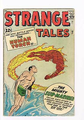 Strange Tales # 107  Human Torch vs Sub-Mariner  grade 4.5  scarce hot book !!
