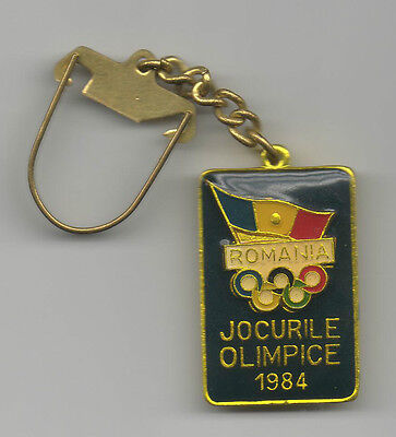 Orig.keyring   Olympic Games LOS ANGELES 1984 - TEAM ROMANIA  !!  EXTREM RARE