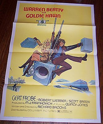 $ (1971) Warren Beatty & Goldie Hawn * Original 27X41 1-Sheet Poster