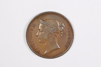 1845 Straits Settlements East India Co. Victoria one cent Coin