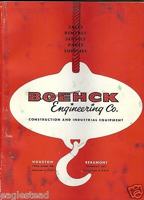 Equipment Catalog - Boehck Engineering - Construction Mobile Eqpt Tools  (E1759)