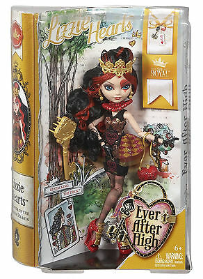 2014 EVER AFTER HIGH LIZZIE HEARTS DAUGHTER OF THE QUEEN OF HEARTS, IN STOCK!!
