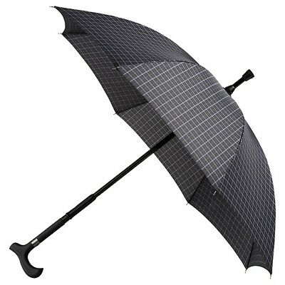 Falcone Walking Stick Umbrella - Grid