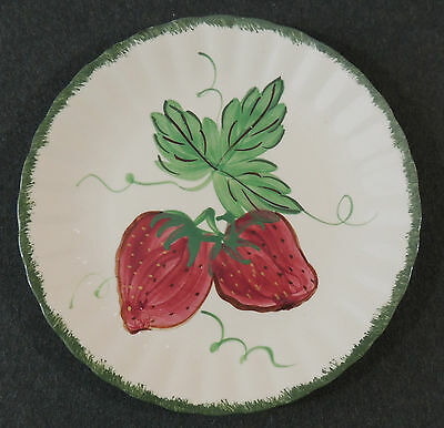 Blue Ridge Southern Potteries Hand Painted Wild Strawberry Salad Luncheon Plate