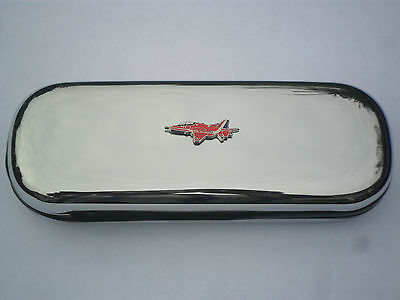Red Arrows Hawk new chrome glasses case great gift!!
